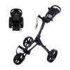 FastFold 3 wiel Golftrolley Square Houtskool Zwart